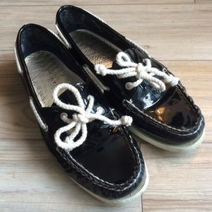 ✨REDUCED✨⛵️Sperry Top Sider⛵️Black boat shoes