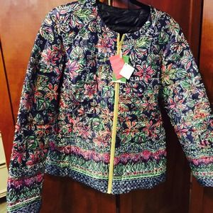 Lilly Pulitzer Jackets Amp Coats Reversible Navy Quilted