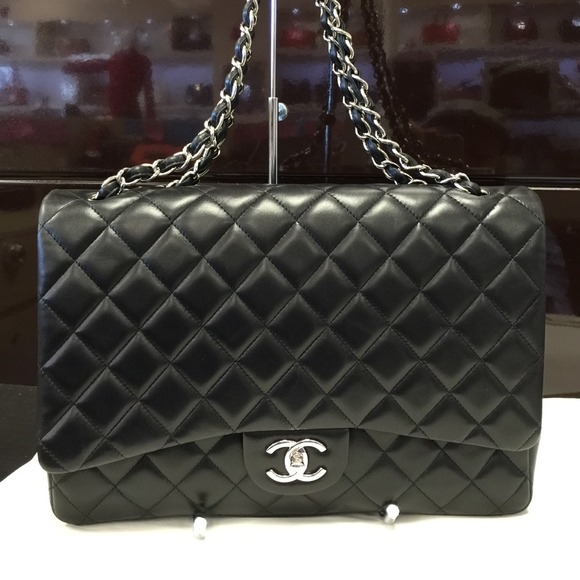 CHANEL Handbags - Chanel Maxi Classic Flap Bag Lambskin a3088cc11db46