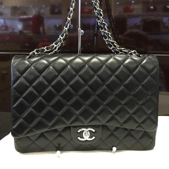 aa989d1349d4 CHANEL Handbags - Chanel Maxi Classic Flap Bag Lambskin