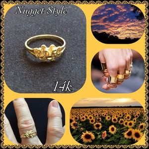 Jewelry - 14KT Gold Nugget Ring