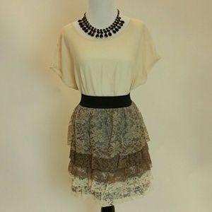 Lace Ruffles Skirt