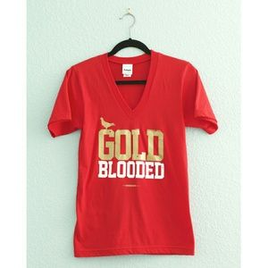 "Adapt | ""Gold Blooded"" V-Neck Tee"