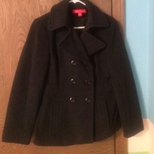 Anne Klein dark grey wool blend coat