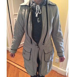 Lauren Vidal Jackets & Blazers - Grey Trench Coat