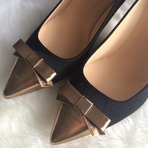 J. Crew Shoes - J.Crew NWOB Everly cap toe pumps with patent bow