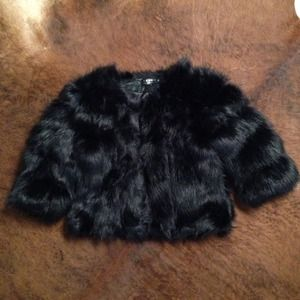 Faux fur short outer