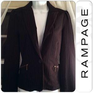 Rampage black blazer sz large juniors