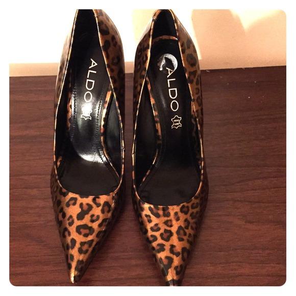 Aldo Shoes | Aldo Leopard Print Heels