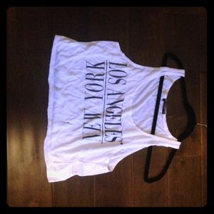 LA•NY Cropped tank top one size fits all!