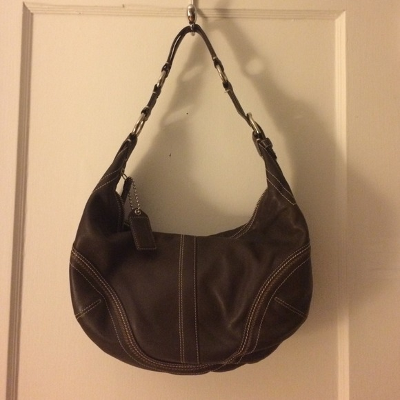 great deals on fashion another chance quality Brown leather hobo style Coach purse