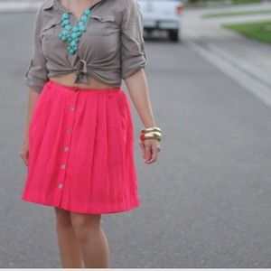 Xhilaration Dresses & Skirts - Hot Pink Circle skirt