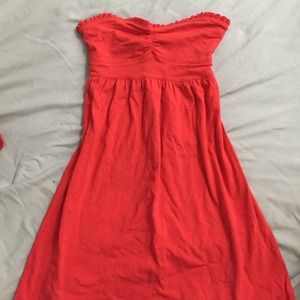 Forever21 red tube top dress - like new
