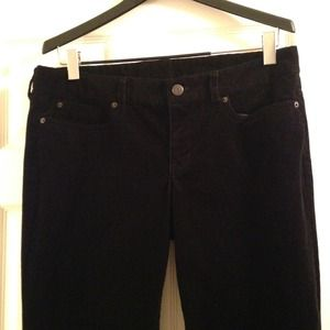 J.CREW Favorite Fit Black Cords. Size 33R/16R