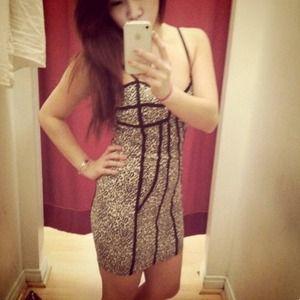 Leopard print body con clubbing dress