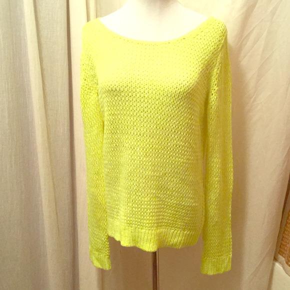 Gap Neon Yellow Knit Sweater.