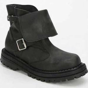 Black Jeffrey Campbell combat boots