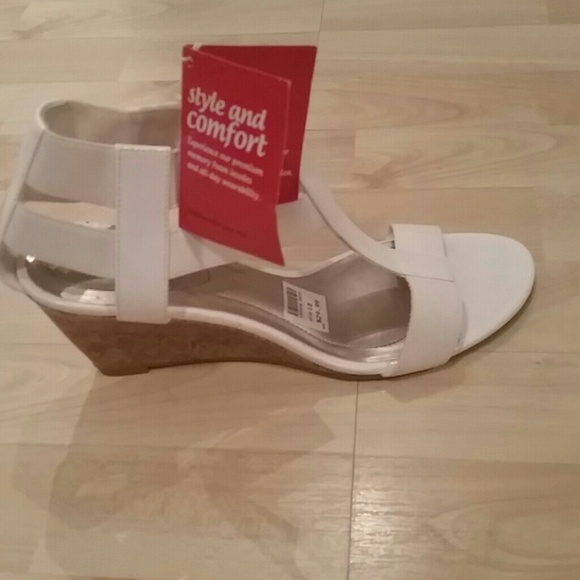Payless Shoes - White Wedge