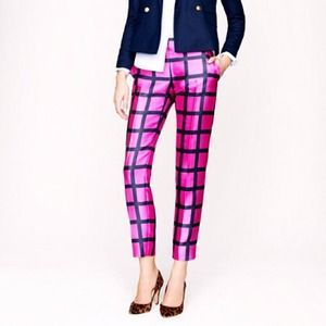J. Crew Collection Café Capri in Windowpane