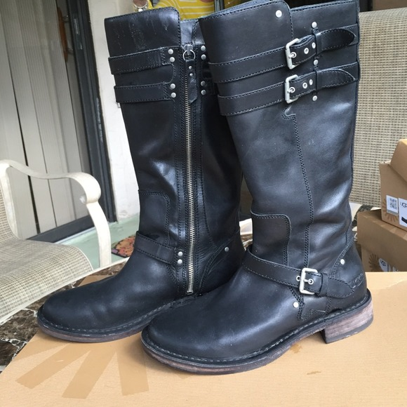 78% off UGG Boots - 💥flash sale Ugg Black leather riding boots ...