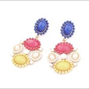 Candy Color Resin Multicolor Flower Stud Earrings