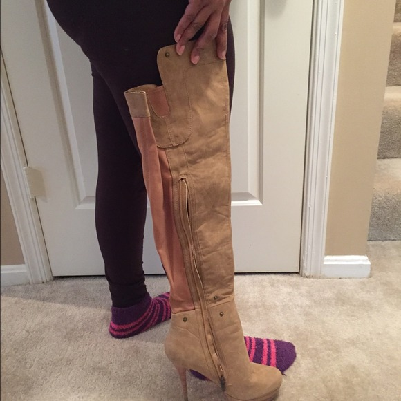 82% off Bakers Boots - Bakers tan thigh high boots! Size 10. from ...