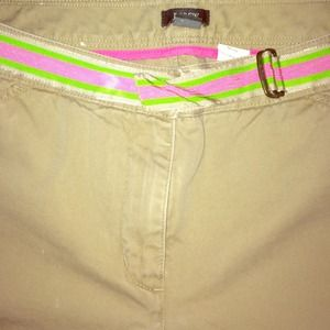 JCREW Capris! Pink&Green Ribbon belt