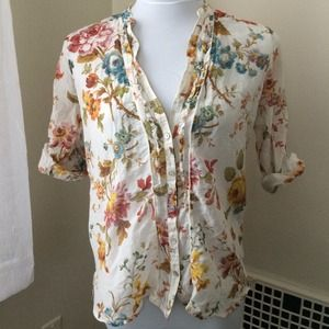 Zara Tops - Autumn Floral Zara Shirt
