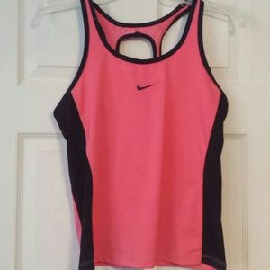 Nike Outerwear - Pink and Black fitted Nike top