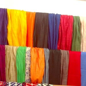 Cotton scarves ! $20 each . 100% cotton and silk