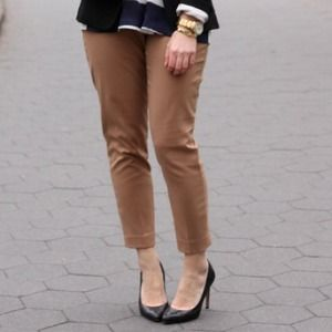 GAP Pants - Tan cropped dress pants