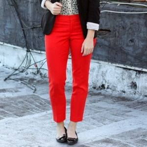 GAP Pants - Red cropped dress pants