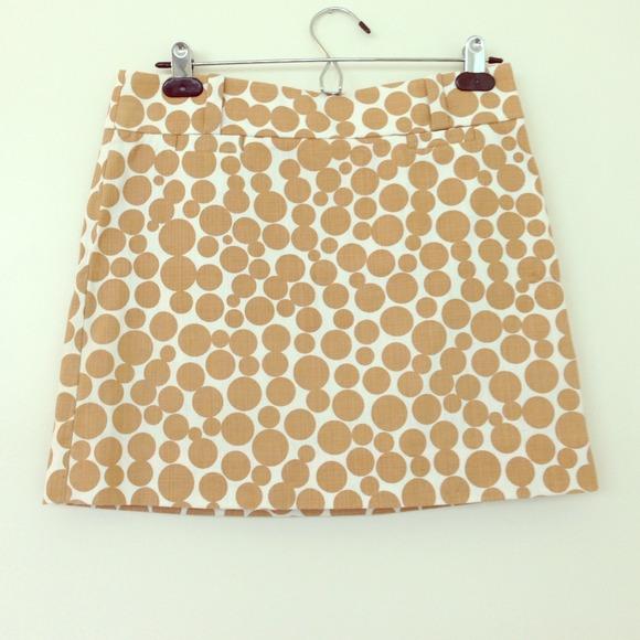 J. Crew Polka Dot Mini Skirt