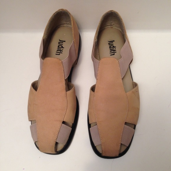 b8d3a4172755dd Judith Rosemary Stone Tan Suede Sandals 7 1 2