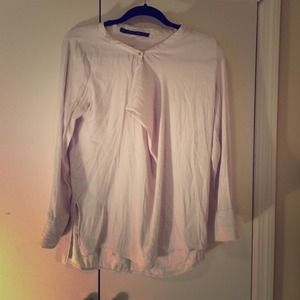 Zara off white long sleeve blouse - size s