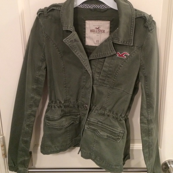 33% off Hollister Jackets & Blazers - Fitted army green jacket ...