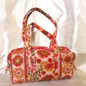 Vera Bradley Folkloric Small Barrel Bag NWOT