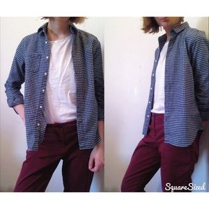 Blue Plaid Flannel Button Down Shirt - Never Worn!