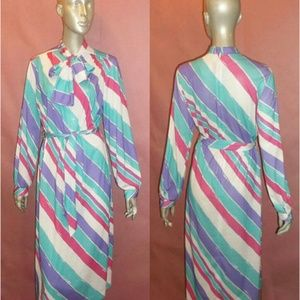 Lanvin Dresses & Skirts - Vintage NWT Unworn Designer Lanvin stripe dress