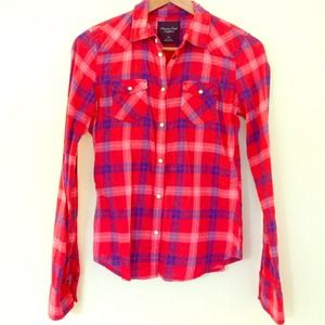 American Eagle Outfitters Tops - Flannel Plaid American Eagle Top