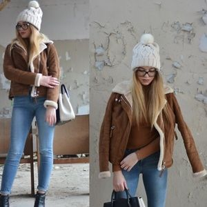 AMAZING Genuine Brown Leather/Suede Jacket