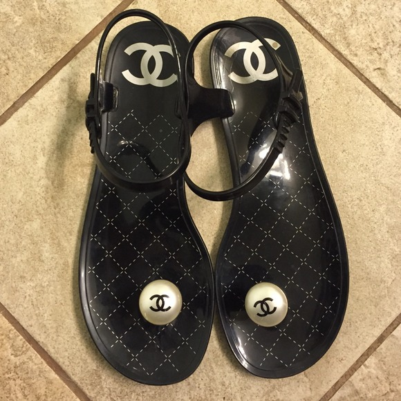 78c14d0a8501 CHANEL Shoes - Authentic Chanel jelly toe button sandal