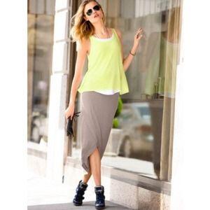 Supermodel Essentials Long Tulip Hem Skirt