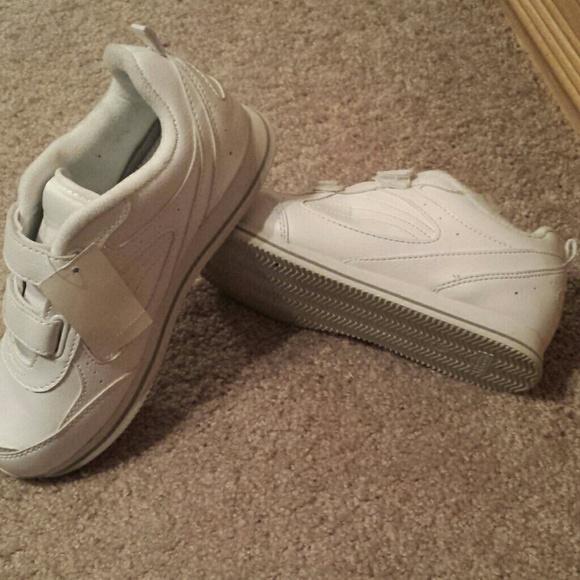 Walmart White Velcro Shoes