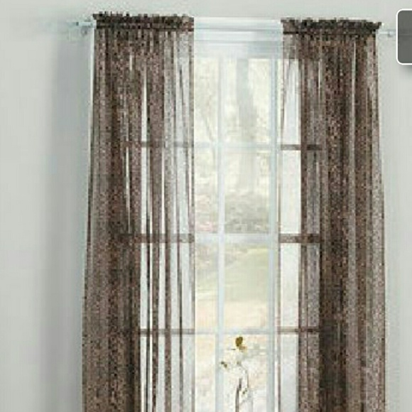 Ellery Home Styles Other - 15 Leopard Print Sheer Curtain Panels