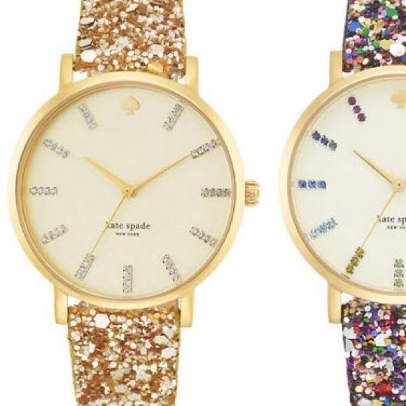 kate spade Jewelry Gold Sparkle Metro Watch Nwt Poshmark