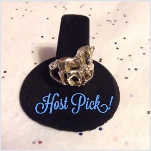 Jewelry - 🎉HP!🎉 Sterling Silver Adult & Baby Horse ring