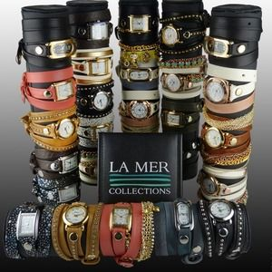 LA MER Women's Tree Chain Wrap Watch