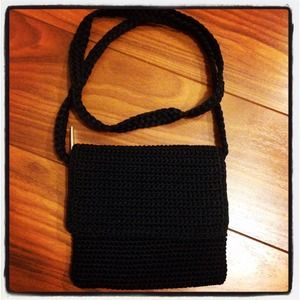 The Sak Black Crochet Handbag : ... sak black crochet small crossbody bag new hip crochet sak bag crochet