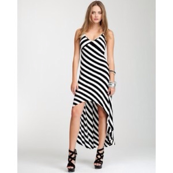 Striped High Low Dresses